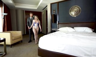 Incredible light-haired, Mia Malkova and her biz colleague, Sam Shock went to a motel apartment to plumb