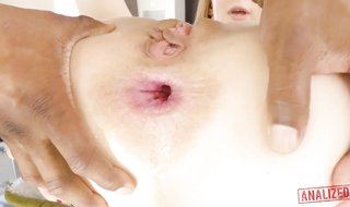 Ginger girl, Alexa Nova is impatiently throating the thickest ebony prick she has ever seen