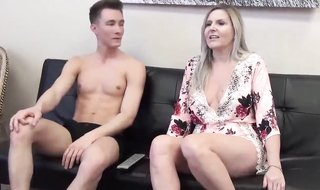FAMILYPORN - Seeing Pornography Video With Mommy And Boinking Her