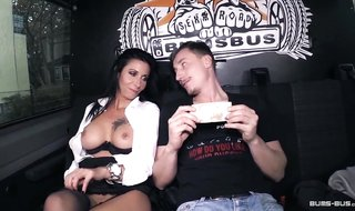 BumsBus - Mature German gets plowed in the backseat of a bus
